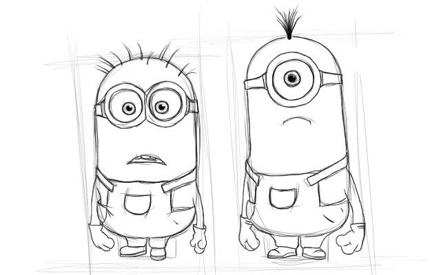 Легкие прикольные рисунки карандашом поэтапно, звонок картинки