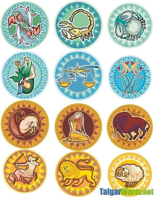 круглые картинки все знаки зодиака форме основном только