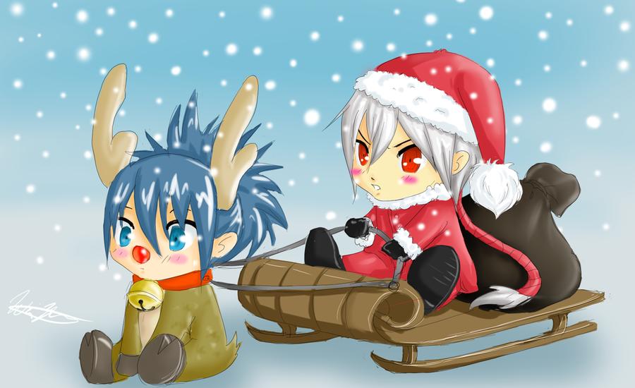 Милые аниме картинки с новым годом