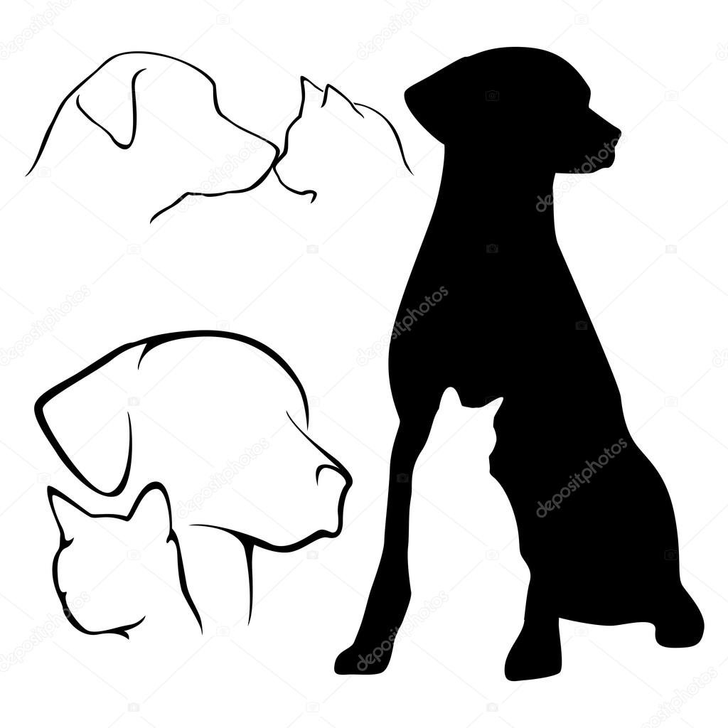 картинки тату кошки собаки употребляют также боксёры
