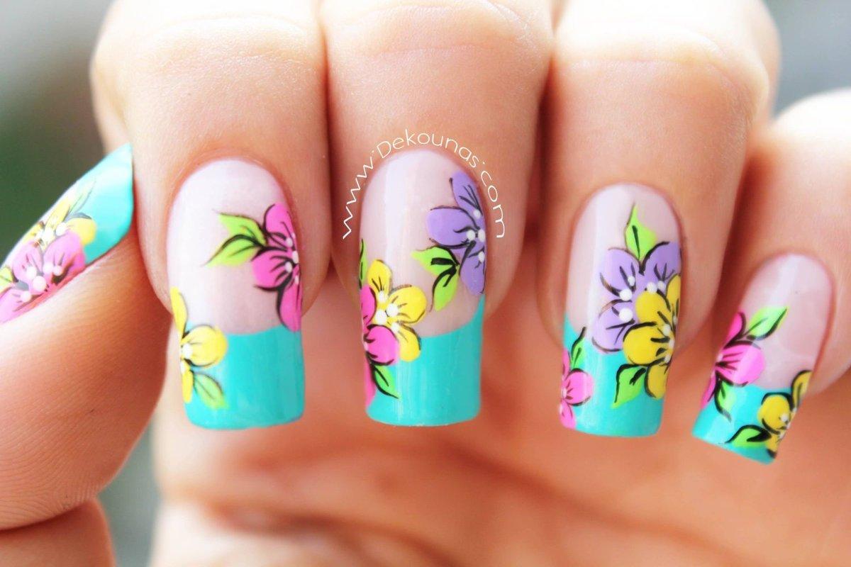 Картинки дизайн ногтей с цветами фото