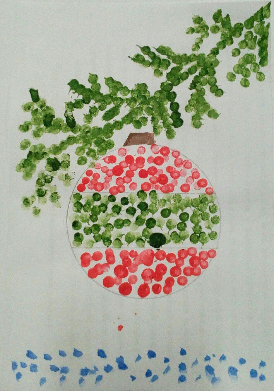 видов картинки рисование ватными палочками в доу теплицу