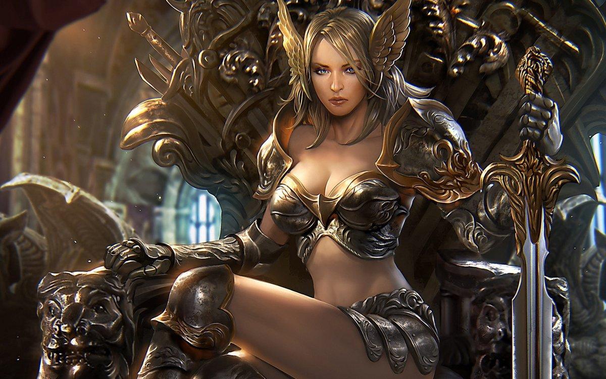 фото фэнтези девушки воины хардкордный