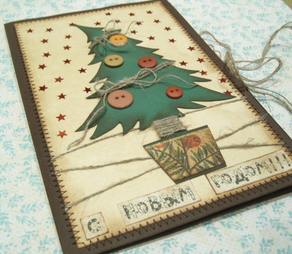 Открытки хенд мейд своими руками к новому году, открытки праздником
