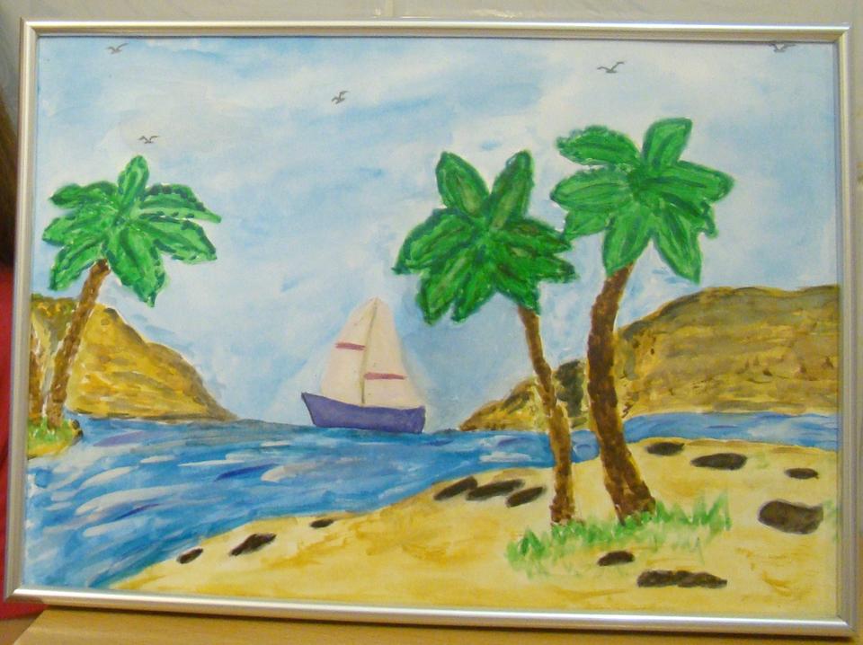 Открытка книга, лето рисунок 2 класс