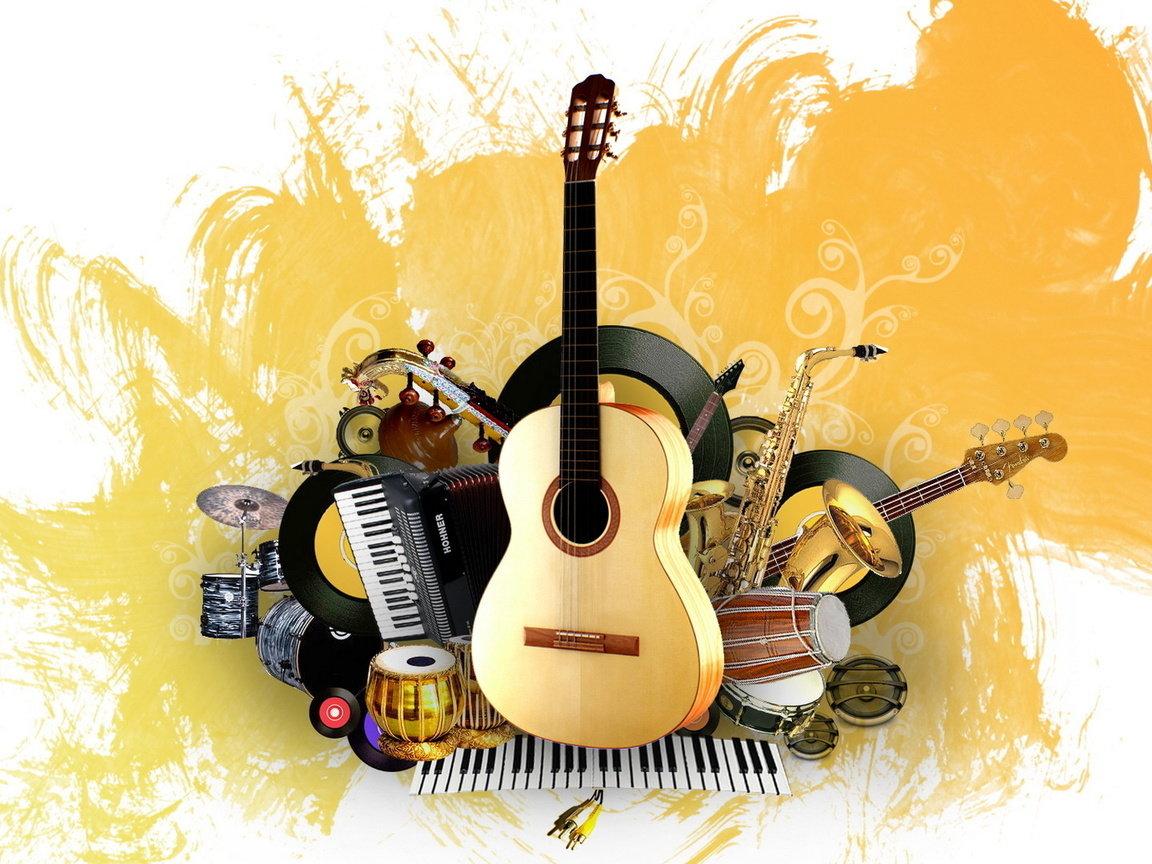 Открытка на тему музыка