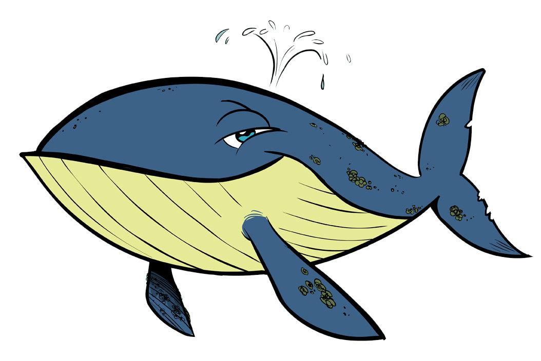 Картинки мультяшный кит