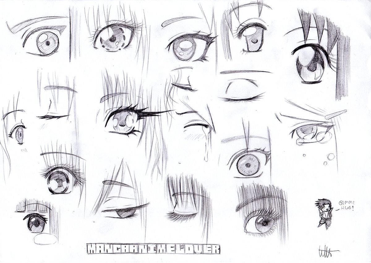 Draw cute anime eyes anime eye sketches pencil sketch drawin