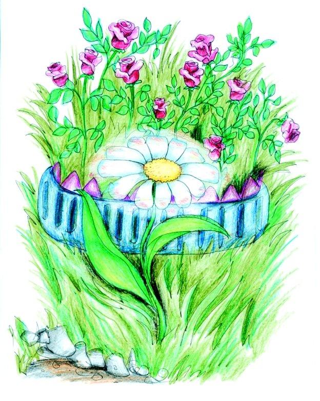 Картинка клумбы цветов для детей