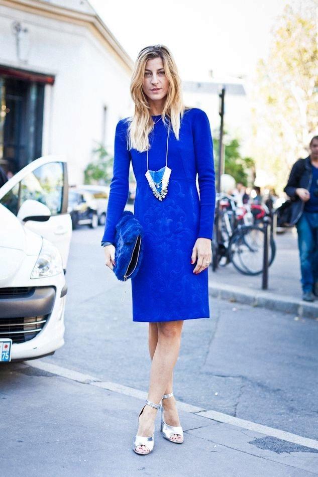 дома ваш цвет сапог к синему платью фото для