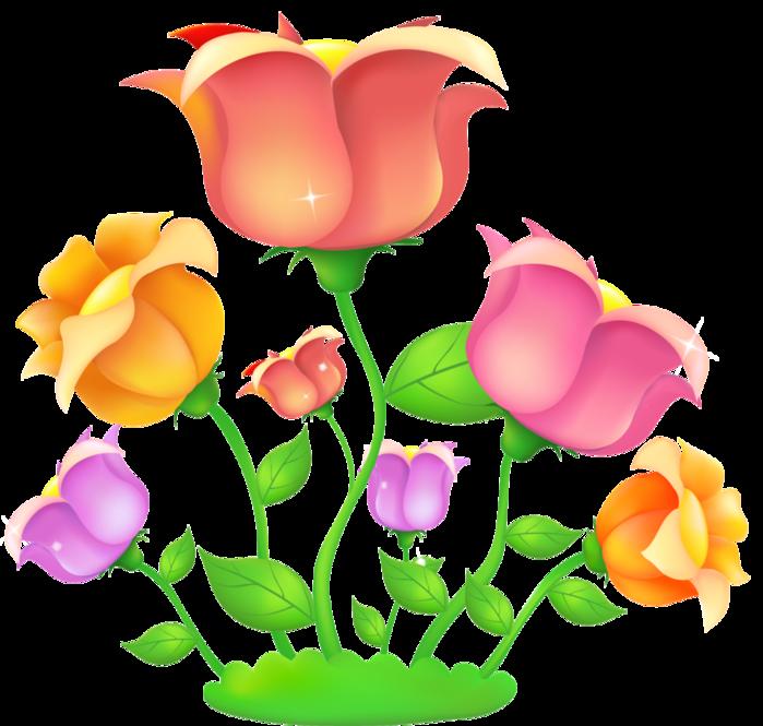 Картинки детские цветочные