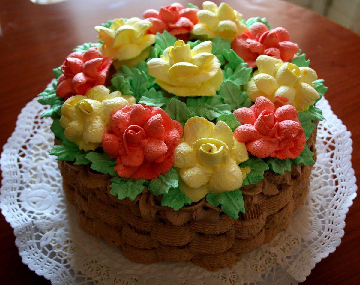 избавления потребуется кремовый торт корзинка с цветами картинки мазеобразная