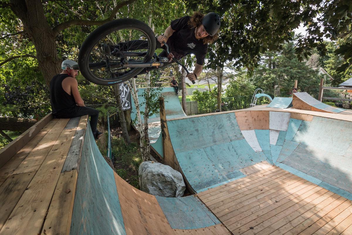 Backyard Bmx Jumps backyard bmx jumps ] - boy on bmx has a funny jump fail in slow