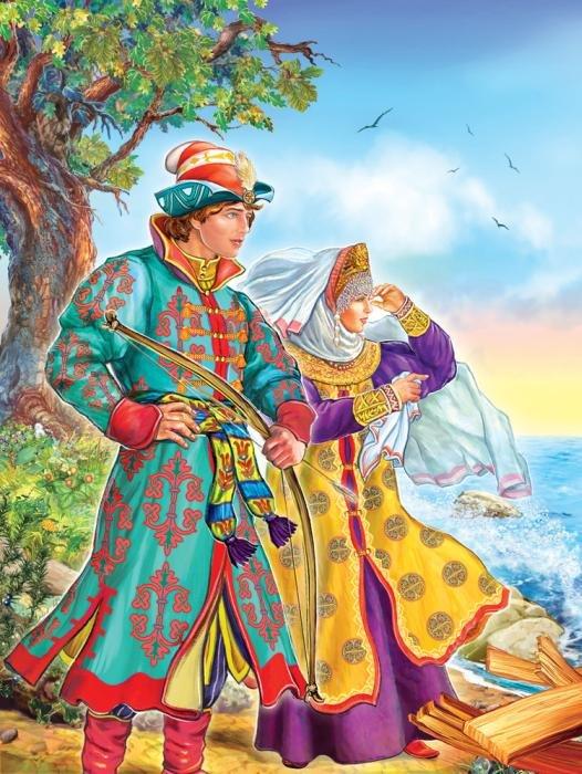 Картинки герои сказок пушкина, ретро стиле смурфики