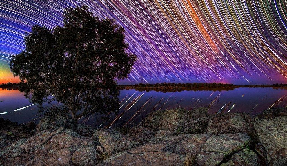 нередко фото звездного неба с большой выдержкой это