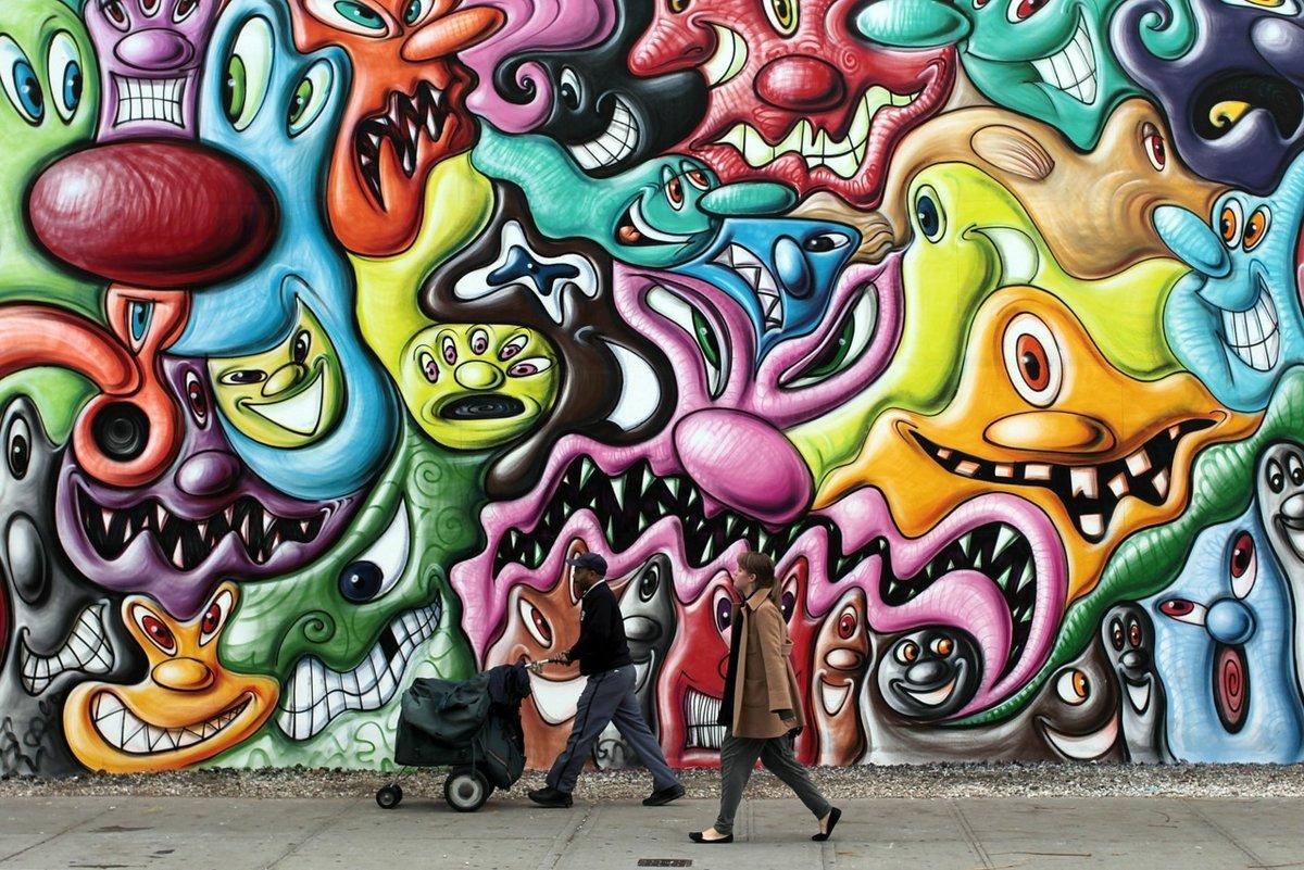 Картинки прикольного граффити