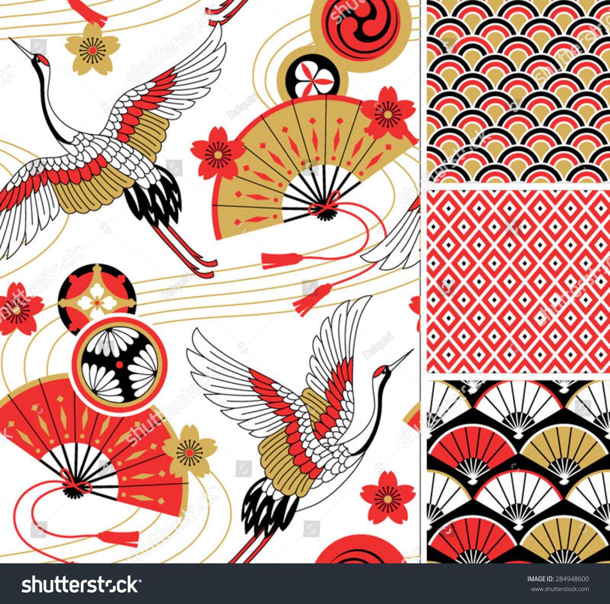 первым картинки узоров японии оставшиеся