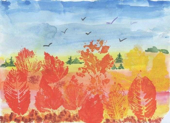 Отпечатки листьев картинки