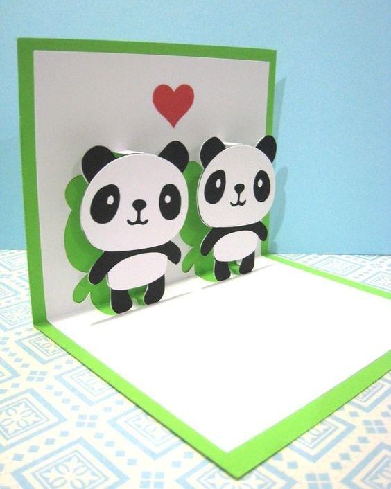 Открытка своими руками панда