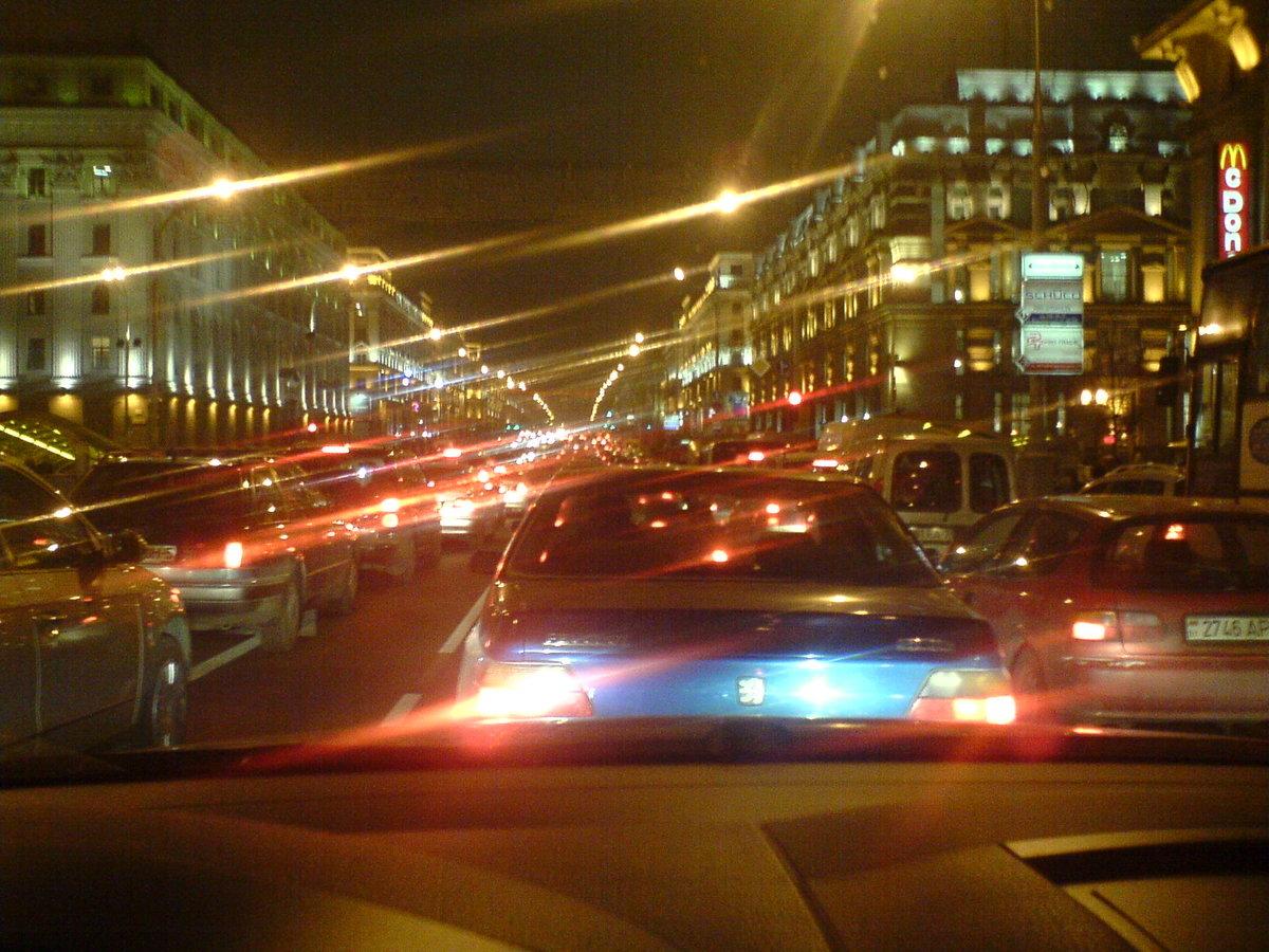 Ночной минск фото из машины