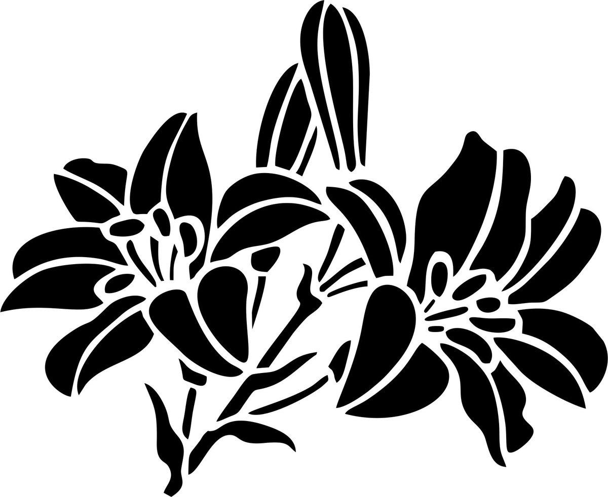 Трафареты картинок цветов
