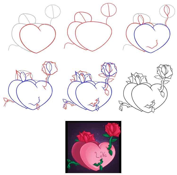 Как нарисовать бабушке открытку поэтапно