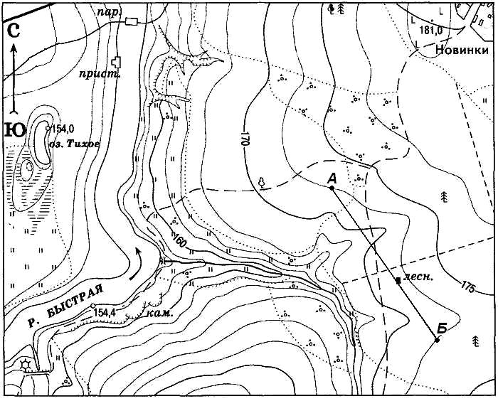 Топографическая карта в картинках