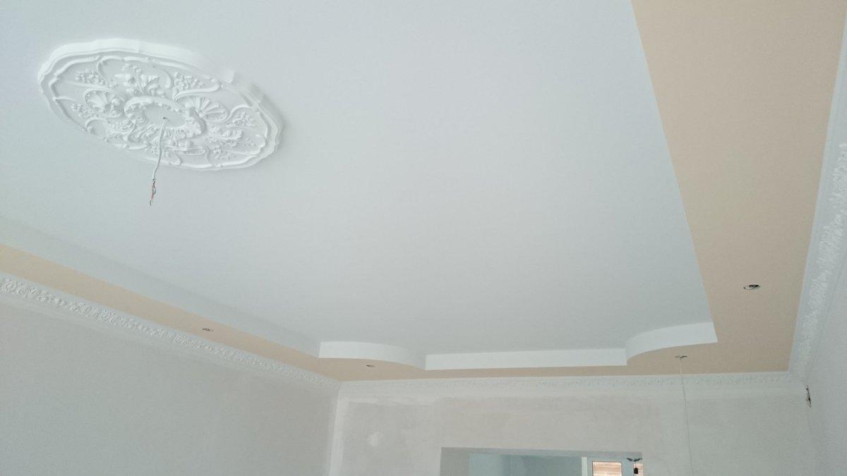 результате потолок из гипсокартона картинки покраска самый сложный