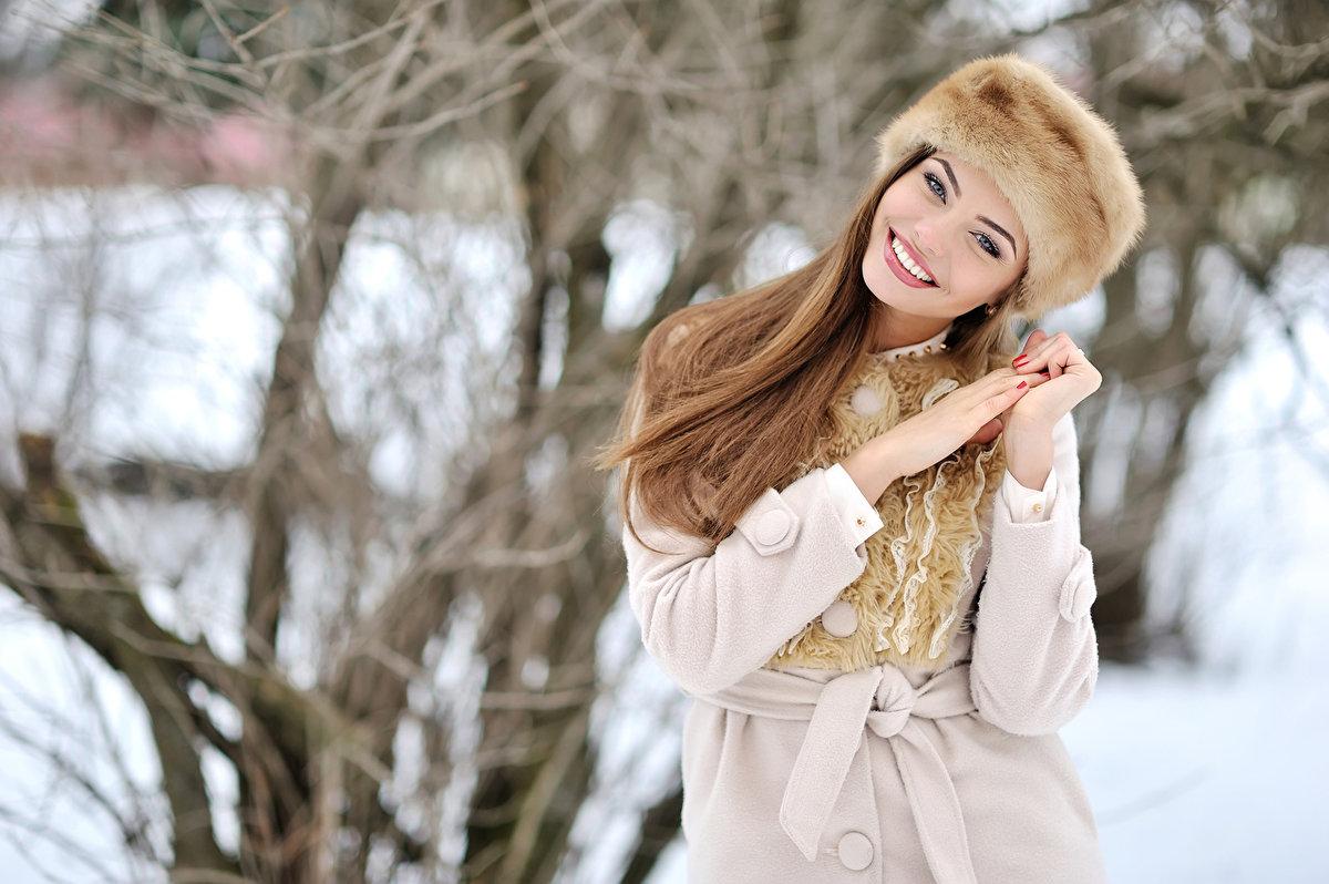 Красивые девчонки зимой, красивые негритянки на херах