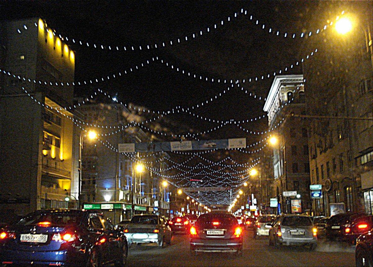 Фото улицы зимой тверская ямская ночью