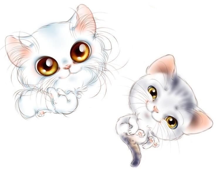 Картинки котята милые мультяшные