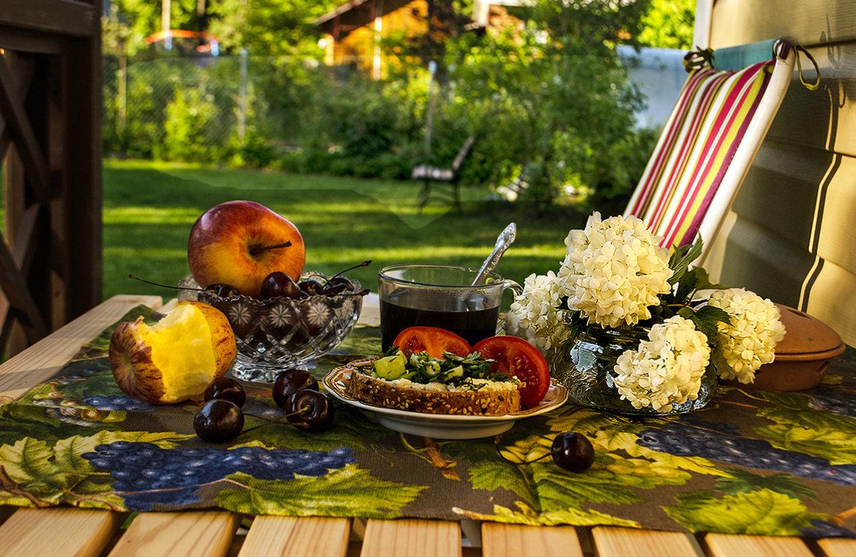 завтрак на природе фото городские квартиры