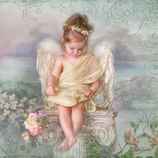 Открытка ангел девочка ад, отправить