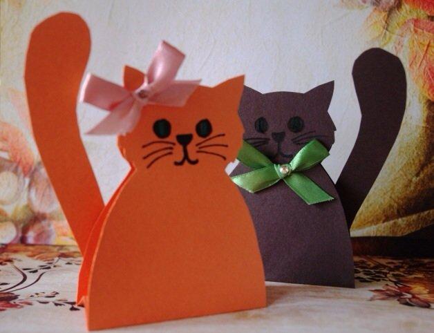 Открытки котики своими руками