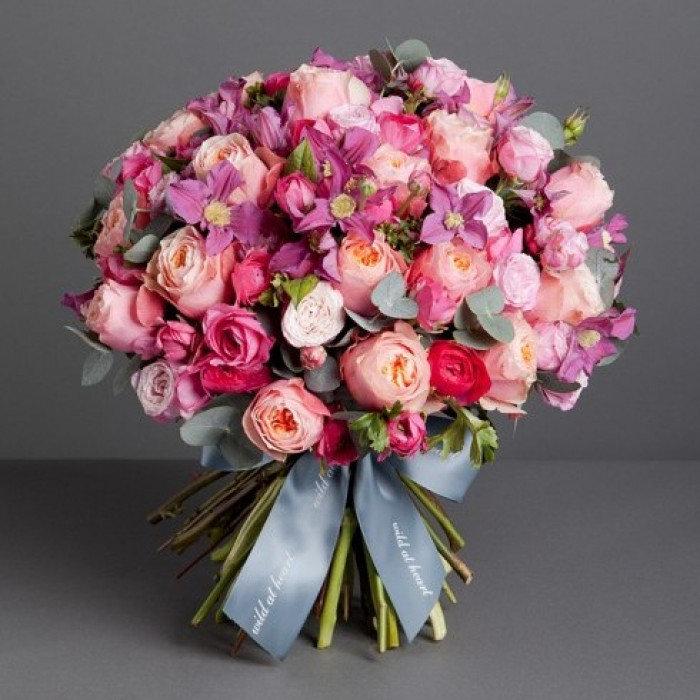 Модные букеты из роз 2018, цветы частные