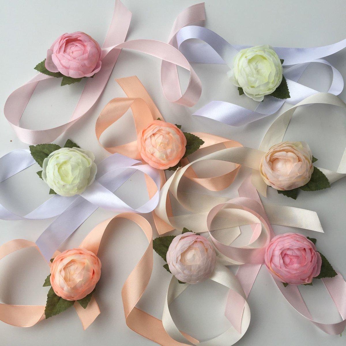 Браслеты для подружек невесты своими руками из искусственных цветов