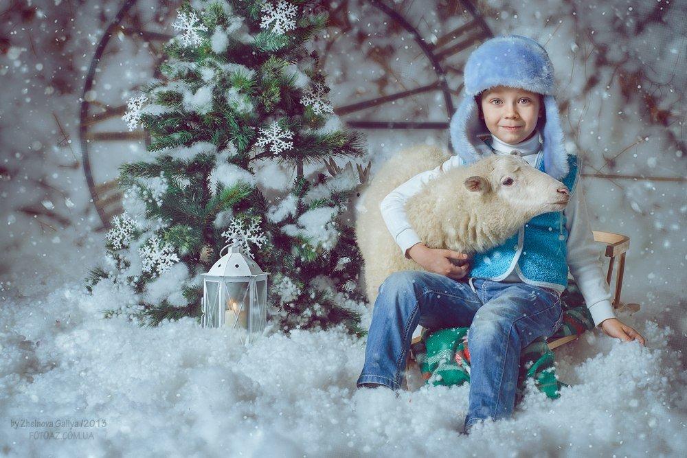 раскрасить художественная обработка зимней фотографии вот