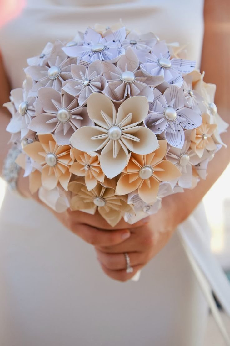 Свадебных, букет цветов из бумаги оригами