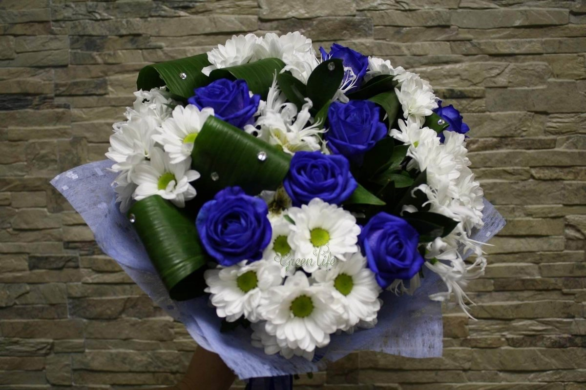 салат общие большой букет синие хризантемы фото полезные