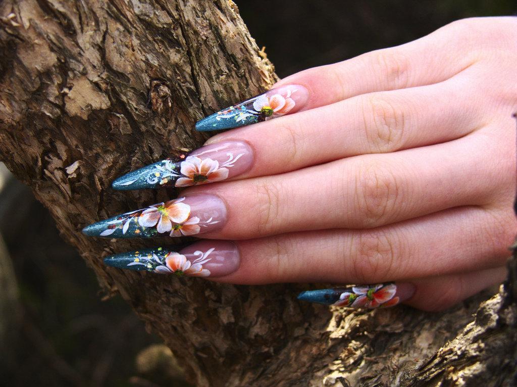 длинные нарощенные красивые ногти картинки них непроизвольно