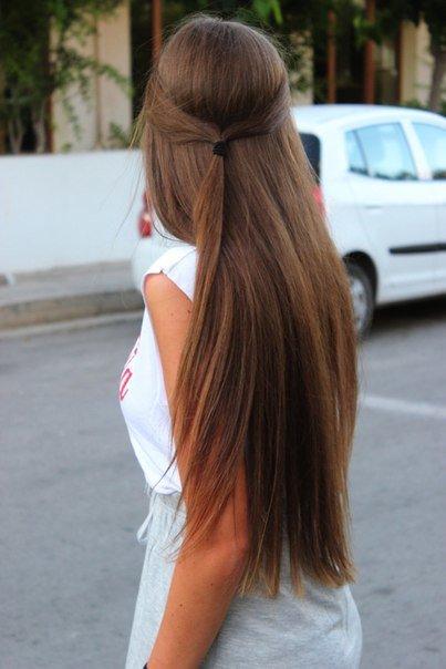 девушек красивые фото темно русых со спины вас есть