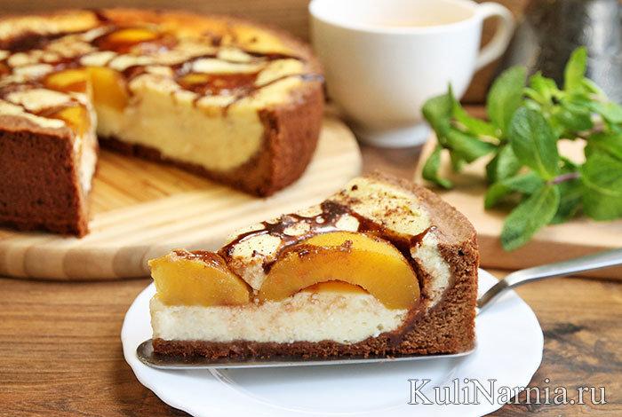рецепт пирога с консервированными персиками положен перерасчет