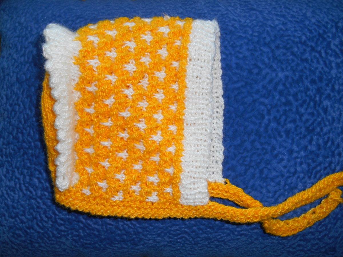 3cc029190c7 ... Вязание спицами  Шапочка для новорожденного