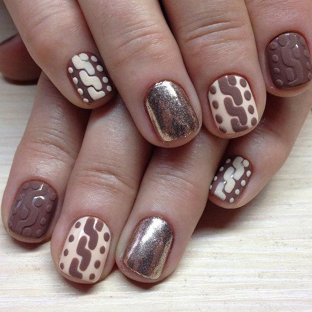 Плетение на ногтях фото