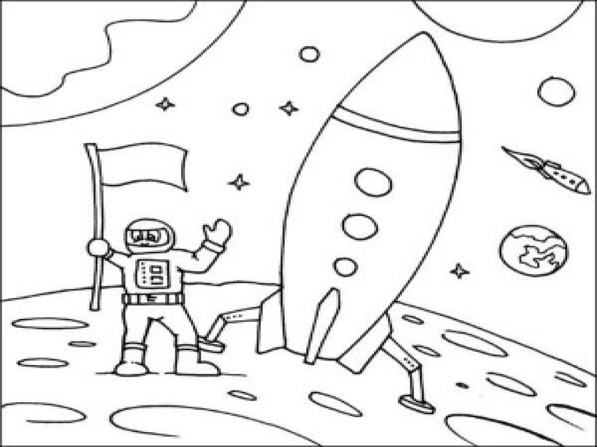 Раскраска о космосе для детей дошкольного