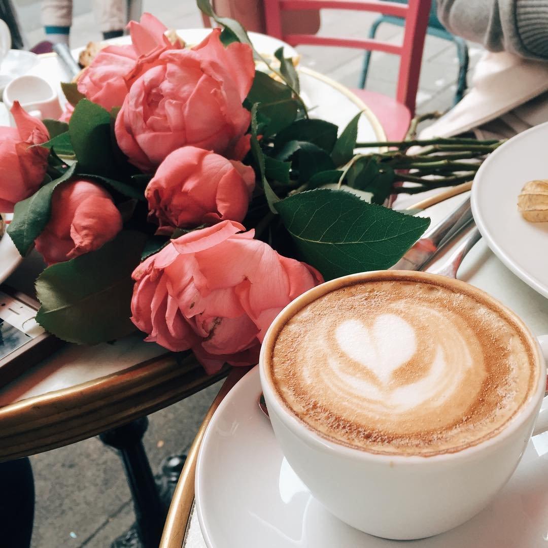 Картинки с добрым утром цветы кофе, поздравление днем