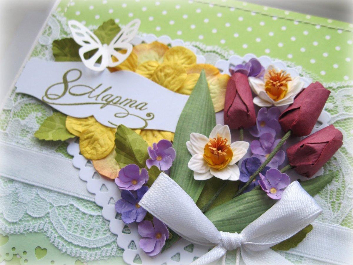 Наступающем, гофрированная бумага цветы для открытки