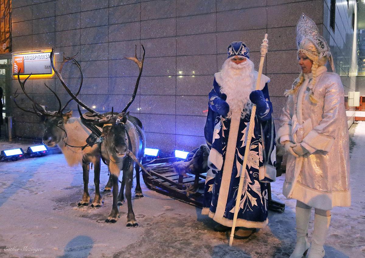 дед мороз и его олени картинки