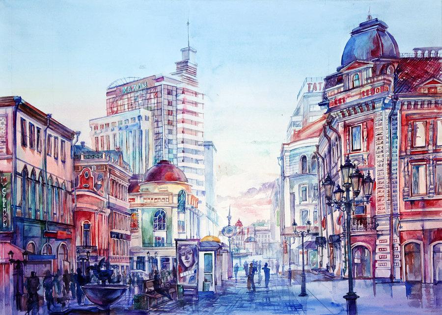 картинки нарисованые города крыльцо керамогранита находится