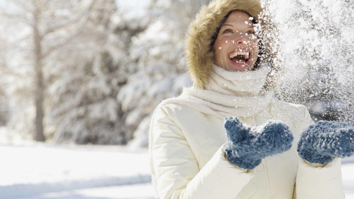 Открытки, картинки счастливых людей зимой